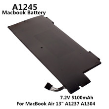 100% original 7.2v 5100mah notebook portátil a1245 bateria para apple macbook ar 13 \