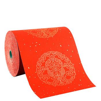 Wiosenny festiwal kuplety kaligrafia papier smok ryba złota folia pusty półdojrzały papier Xuan nie blaknący czerwony chiński papier Xuan tanie i dobre opinie suvtoper
