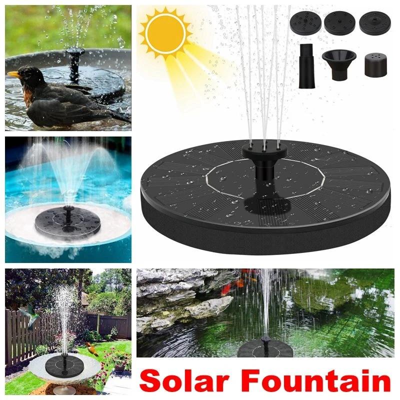 1.4W Solar Panel Powered Floating Pump Water Fountain Birdbath Pool Garden Decor