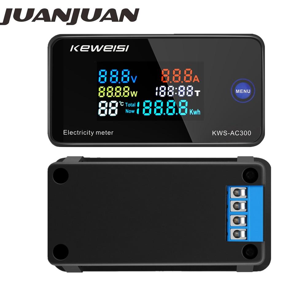 KWS-AC300 вольтметр тестер напряжения переменного тока 50-300 В измеритель мощности светодиодный счетчик мощности Электрический счетчик с функци...