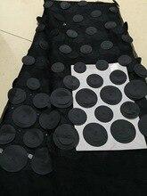 Tessuti di pizzo francese nigeriano nero 2020 tessuto di pizzo Tulle africano tessuto da sposa in pizzo africano di alta qualità per abito CD21202