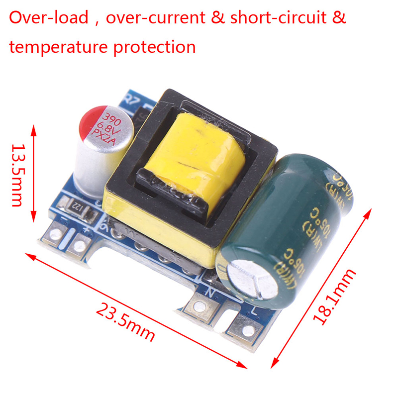 Mini AC-DC 110V 120V 220V 230V To 5V 12V Converter Board Module Power Supply 5V 700mA (3.5W)-1