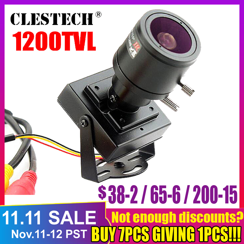 3.28 Mini Zoom Camera 2.8mm-12mm 1200TVL HD Zoom Manual Focusing Djustable Lens Metal Security Surveillance Vidicon Micro Video