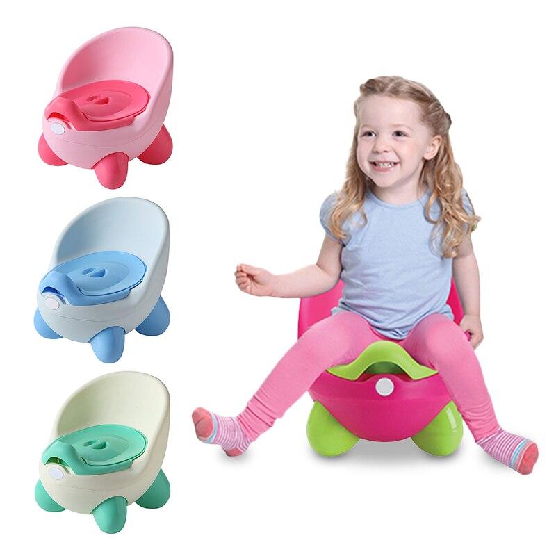 Baby Potty Toilet Seat Portable Children's Pot Toilet Bowl Training Pan Kids Bedpan Comfortable Backrest Boys Cartoon Cute Pot