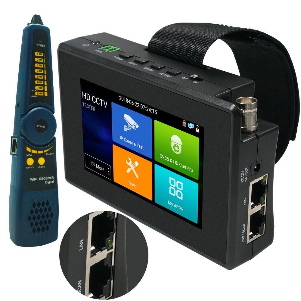 4 pouces 4K H265 H264 IP caméra testeur 8MP AHD/TVI/CVI CVBS CCTV testeur moniteur PTZ contrôleur rapide ONVIF IPC testeur POE