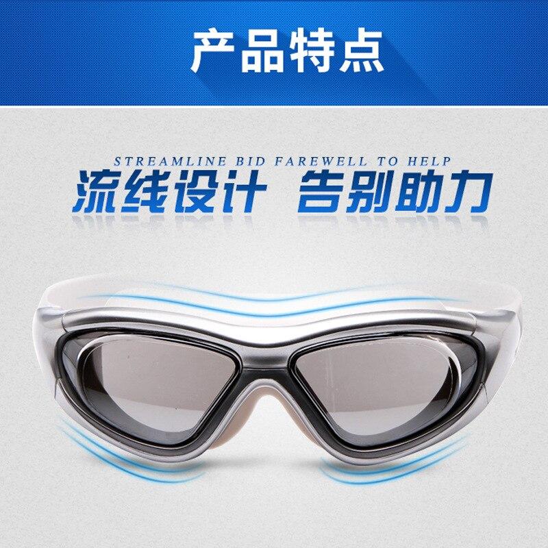 Óculos de Natação à Prova Óculos de Mergulho Dwaterproof Água Anti-nevoeiro Adulto Galvanoplastia Grande Quadro Óculos Grau Natação Máscara