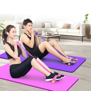 Resistance Elastic Pedal Puller Ropes Exerciser Rower Belly Band Home Gym Sport Training Bands For Fitness Equipment