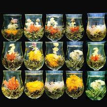 Китайский Цветущий чай зеленый чай шар художественный Цветущий чай 16 штук 16 видов китайский Цветущий Цветочный чай