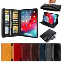 Case For iPad Pro 12.9 2015 2017 2018 case with pencil holder Smart Leather Card slot Bag Pouch case For iPad Pro 12.9 Cover