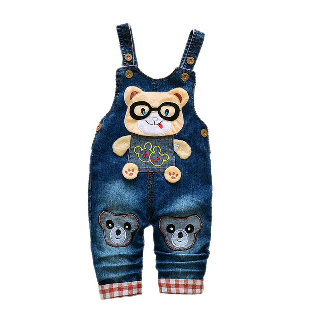 Children's Denim Overalls Baby Jeans Pants Baby Boys Girls Trousers Infant Clothing Toddler Babies Pants Little Kids 1-3 Years 4