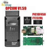 COMOP V1.99 V1.95 V1.78 V1.70 V1.65 V1.59 OBD2 CAN-BUS Code Reader Para Opel OP com OP-COM obd2 Diagnóstico PIC18F458 FTDI Chip
