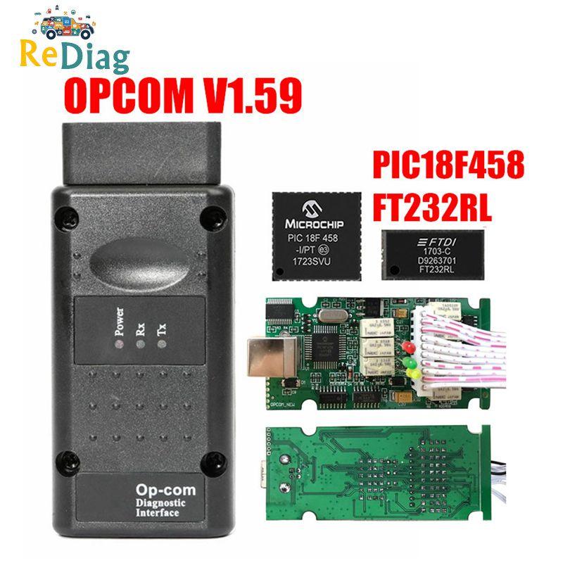 OPCOM V1.99 V1.95 V1.78 V1.70 V1.65 V1.59 OBD2 CAN-BUS czytnik kodów dla opla OP OP-COM obd2 diagnostyczne PIC18F458 FTDI układu