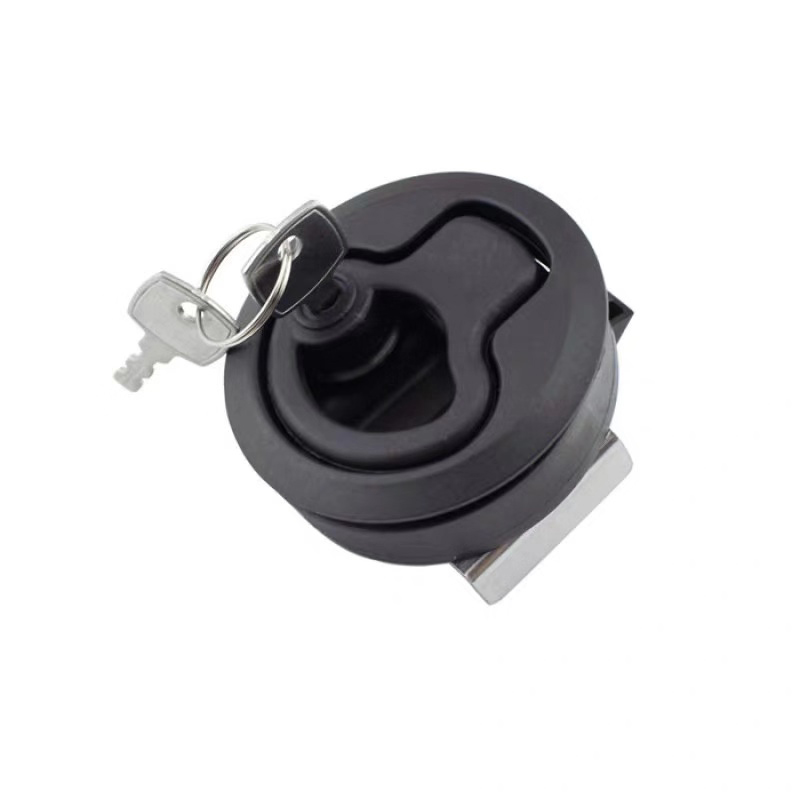 """Image 5 - 2 Pieces 2"""" Plastic Locking Lift Handle Flush Pull Latches Slam Marine Boat Round Deck Lock with Key Yacht Parts Accessories-in Marine Hardware from Automobiles & Motorcycles"""