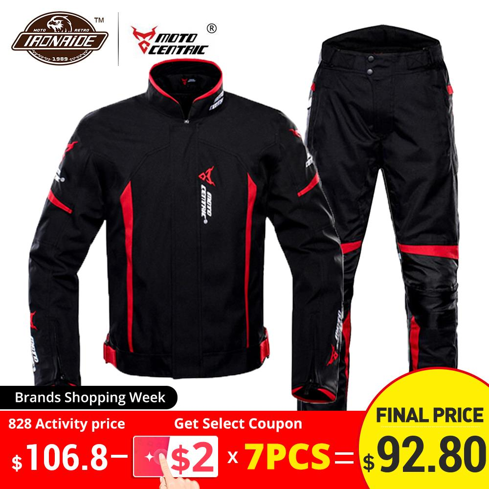 MOTOCENTRIC Waterproof Motorcycle Jacket Winter Riding Jacket Body Armor Protective Gear Motocross Jacket Protection Equipment