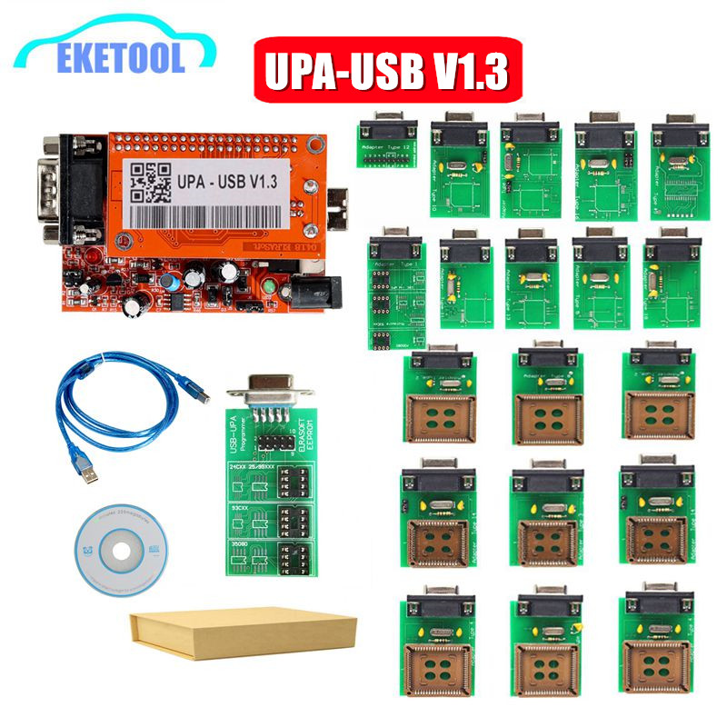 UPA V1.3 UPA USB Programmer UPA USB V1.3 ECU Chip Tuning Tool With Full Adapter EEPROM Programmer Top Quality