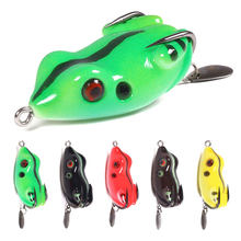 NEWUP 1 PCS 5.5CM 11G Artificial Soft Cork Bait Japan Fishing Bait Frog Lure High Hooks Topwater Ray Frog Fishing Bait PK minnow(China)
