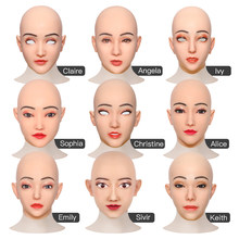 BIG SALE Crossdresser Silicone Beauty Mask Collection Realistic Male to Female Full Head Mask Drag Queen All Saints' Day Mask
