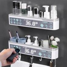 Estante organizador de baño sin perforaciones, artículos para el hogar, accesorios de baño, soporte para toalla de cocina, estante de almacenamiento de champú cosmético