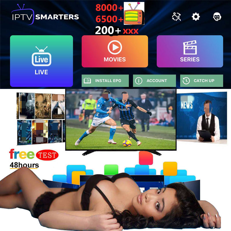 IPTV Subscription 3/6/12 Months M3u List Smart IPTV Smarter Pro Spain Portugal Gremany Canada UK USA Italy Dutch Xxx Adult IP TV