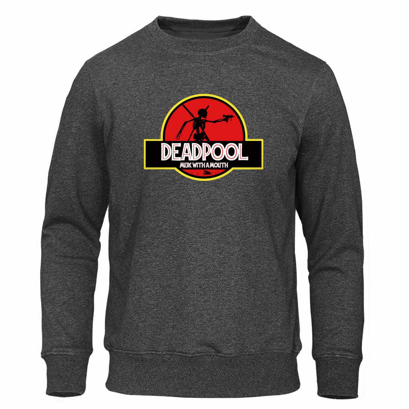 Deadpool Merc z ustami bluzy mężczyźni Cartoon bluza z kapturem Harajuku bluza śmieszne SuperHero sweter jesień ciepłe męskie Streetwear