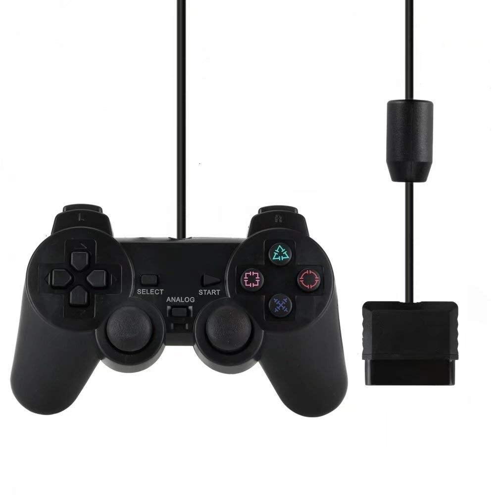Проводной геймпад для Sony PS2, контроллер для Mando PS2/PS2, джойстик для playstation 2, проводной USB-джойстик с вибрацией и ударом