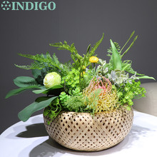 INDIGO Nature Janpanese Style Table Flower Arrangement Gift Bouquet Artificial Bonsai Event Centerpiece Free Shipping