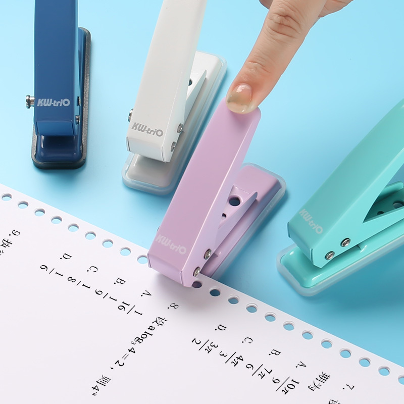 Metal Single Hole Punch School Paper Cutter Loose-Leaf 1-Hole Punches Scrapbooking Puncher DIY Binder Tools Binding Stationery