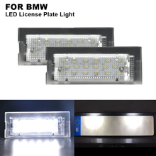 2 pieces 12V Car Clear Canbus Auto LED License Number Plate Light Tail White For BMW E39 5D WAGON 1996~2002