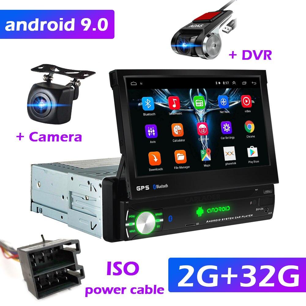 Андроид магнитола с выдвижным экраном, блютуз, GPS навигатором + камера ЗВ + регистратор