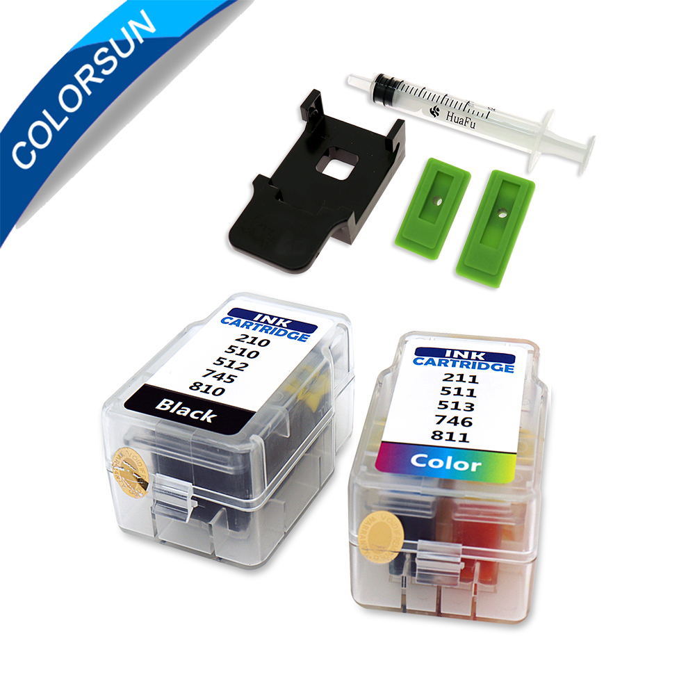 Colorsun Refill Cartridge For Canon PG 510 CL 511 Cartridge 445 446 810 811 512 513 145 146 245 246 745 746 545 XL Ink Cartridge