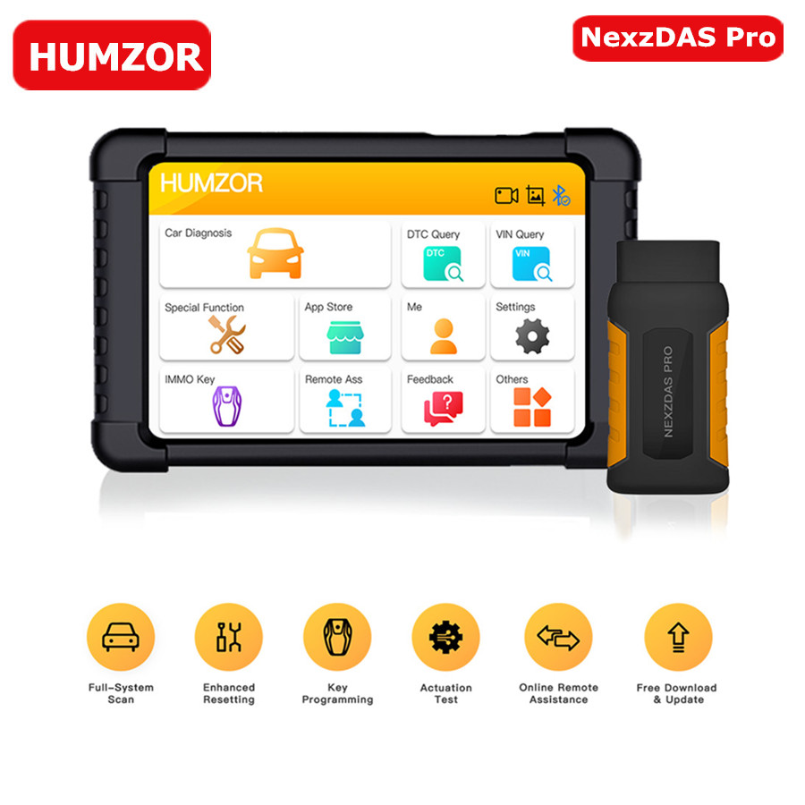Pre Sale Humzor NexzDAS Pro Bluetooth 10inch Tablet Full System Diagnostic Tool OBD2 Scanner with IMMO/ABS/EPB/SAS/DPF/Oil Reset on