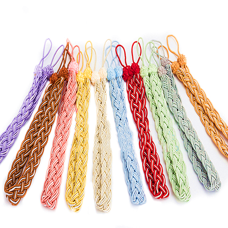 Permalink to 1 Pair Handmade Woven Twist Curtains Tieback Curtain Clips Curtains Holder Tassels Clamps Strap Curtain Decorative Accessories