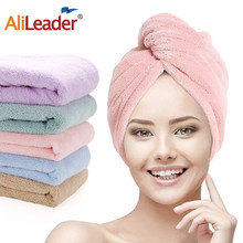 Alilieader Popular Cheap Microfiber Soft Dry Hair Cap Hat Wrapped Super Absorbent Towel For Lady Girl Turban Head Bathing Tools(China)