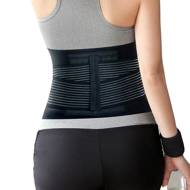 1pcs Men Adjustable Trainer Waist Support Fitness Belt Sport Protection Back Absorb Sweat Fitness Sport Protective Gear 4