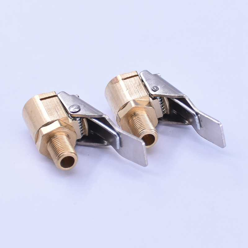 Auto Auto Tyre Wiel Band 8mm Messing Air Chuck Inflator Pomp Valve Clip Clamp Connector Adapter Valve Connector Clip -op