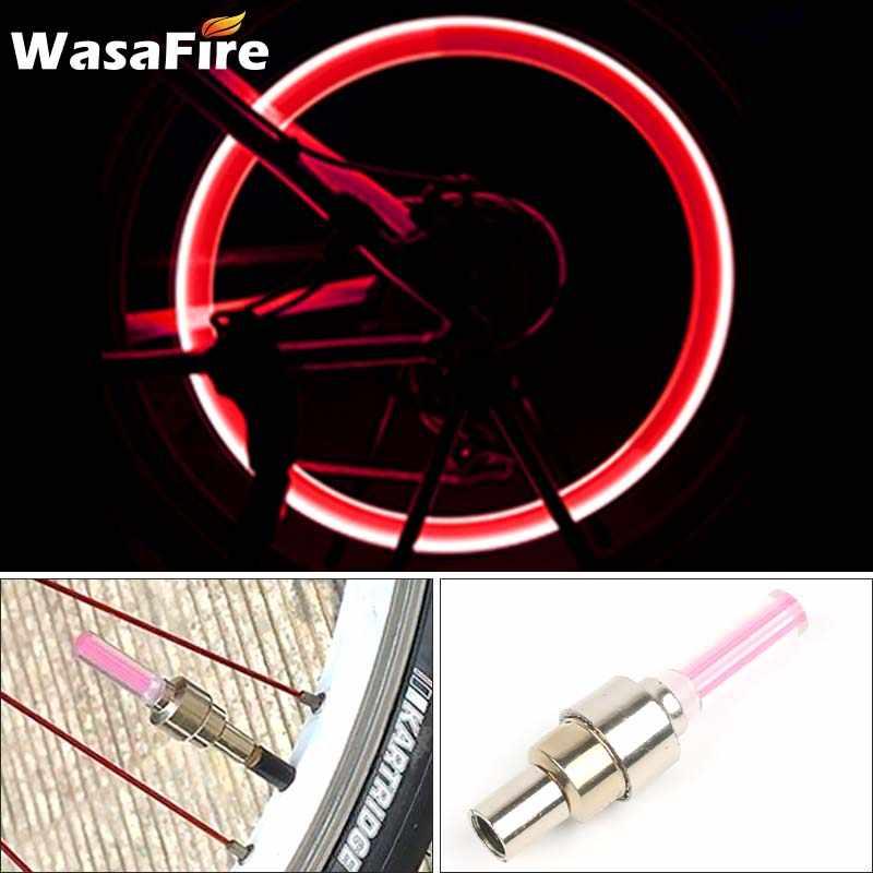 1pc Mini roue pneu Valve bouchons vélo lumière montagne route vélo lumière cyclisme roue rayons LED lumières vélo accessoires cadeau