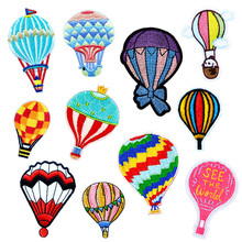 New Arrival Hot Air Patch For Clothing Rainbow Iron on Embroidered Sew Applique Cute Fabric Badge Garment DIY Apparel