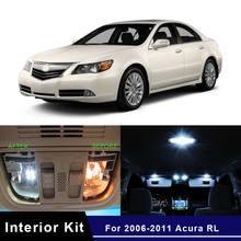 13x led interior luzes kit para 2006-2011 acura rl eua mapa de estoque cúpula tronco placa lâmpada lâmpadas substituição direta