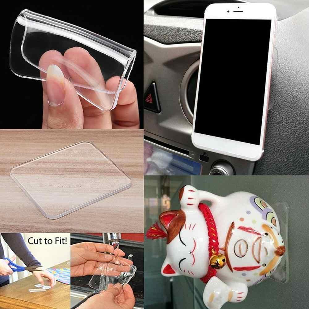 سيارة هلام وسادة شفافة صغيرة مربع نانو ملصقات اليد العطور مقعد سيارة الديكور الثابتة بولي Mat حصيرة 65*75 مللي متر