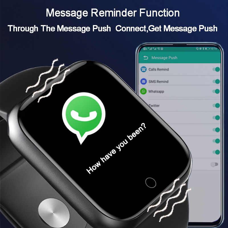 Smart Uhr Mann Frau Smartwatch Android IOS Bluetooth Blutdruck Messung Herz-Monitor-Sport wach Smart uhr 2020