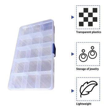 15 Grid Creative Storage Box for Valuables Jewellery Cash Clear Plastic Jewelry Box Organizer Storage Container image