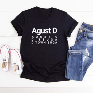 Agust D Suga T-Shirt Women Summer Kpop Merch Agustd T Shirt Cotton O-neck Short Sleeve Tshirt Camiseta Mujer Womens Clothing