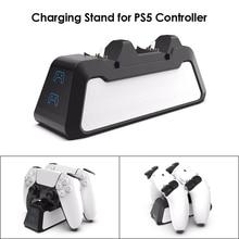 PS5 المزدوج USB مقبض سريع 5 فولت 720 مللي أمبير جهاز شحن حامل شاحن محطة لمحطة اللعب 5 PS5 أذرع التحكم في ألعاب الفيديو Joypad المقود