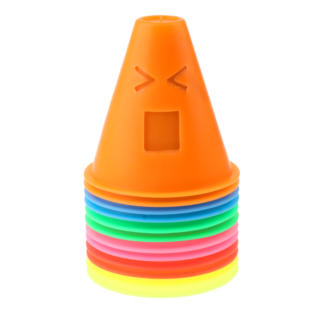 24pcs Marker Cone Cup Barrier Outdoor Skating Football Soccer Training Tools