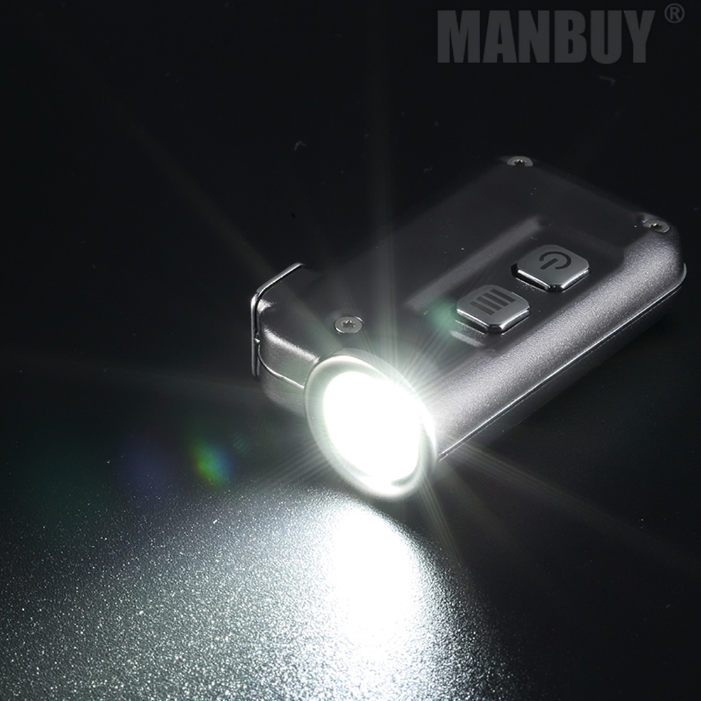 Купить с кэшбэком NITECORE TINI Keychain Light 380Lumen CREE XP-G2 S3 LED USB Rechargeable Built-in Battery Key Button Flashlight Outdoor MINI EDC
