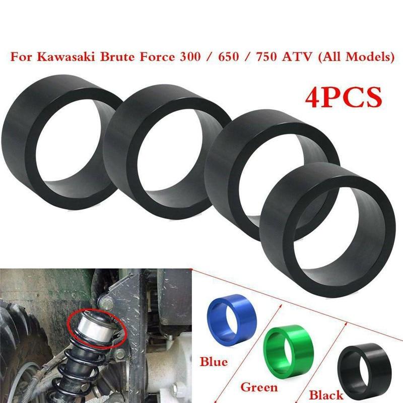 Motoparty Suspension Shock Absorber Lift Spacer Kit Extension 2 Inch For Kawasaki Brute Force 300 650 750 KVF Models ATV Quad