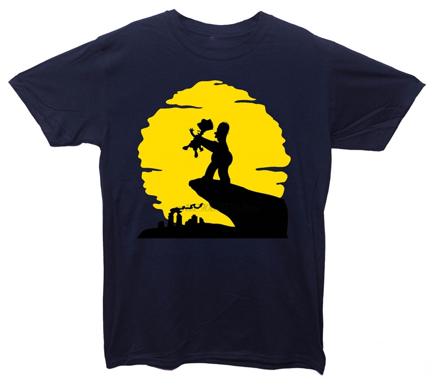 Brand The Circle Of Strife Homer Simpson Bart Simpson Lion King T Shirt Summer title=