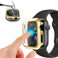 Ultra-thin Shock-Proof Screen Protector Case for apple watch 5 series 4 44mm Shatter-Resistant Bumper Cover iwatch 40mm