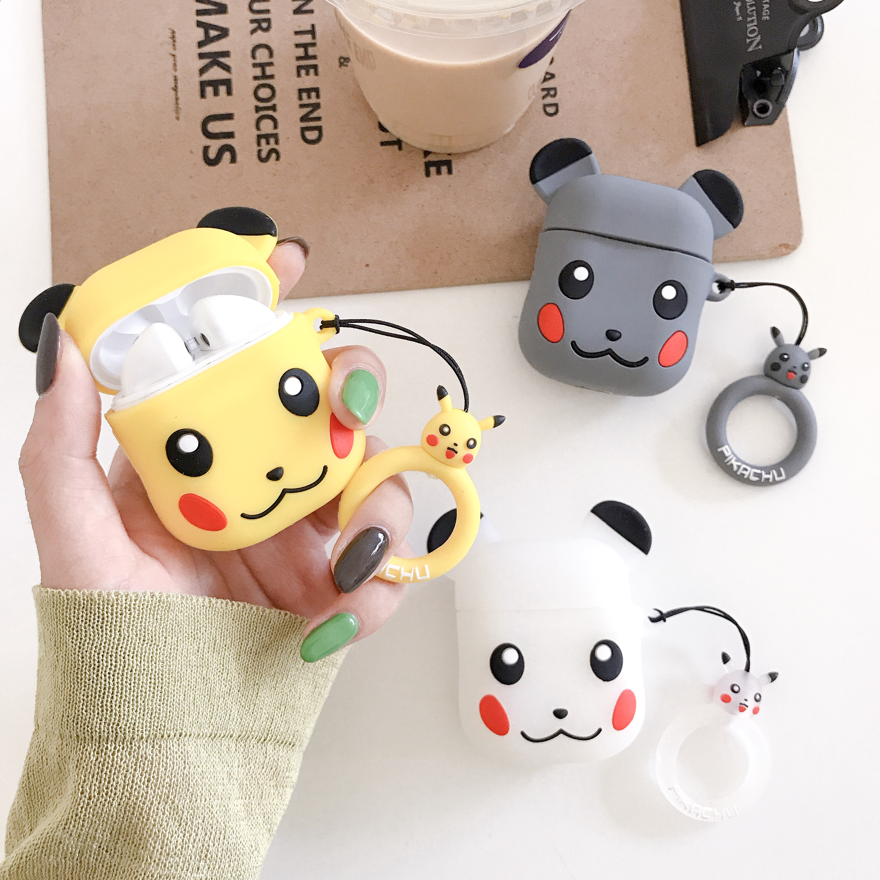 KAIEN cute cartoon PIKA brick bear Silicone soft case For HUAWEI FreeBuds 2Pro Cover Wireless Bluetooth Earphone Protective case