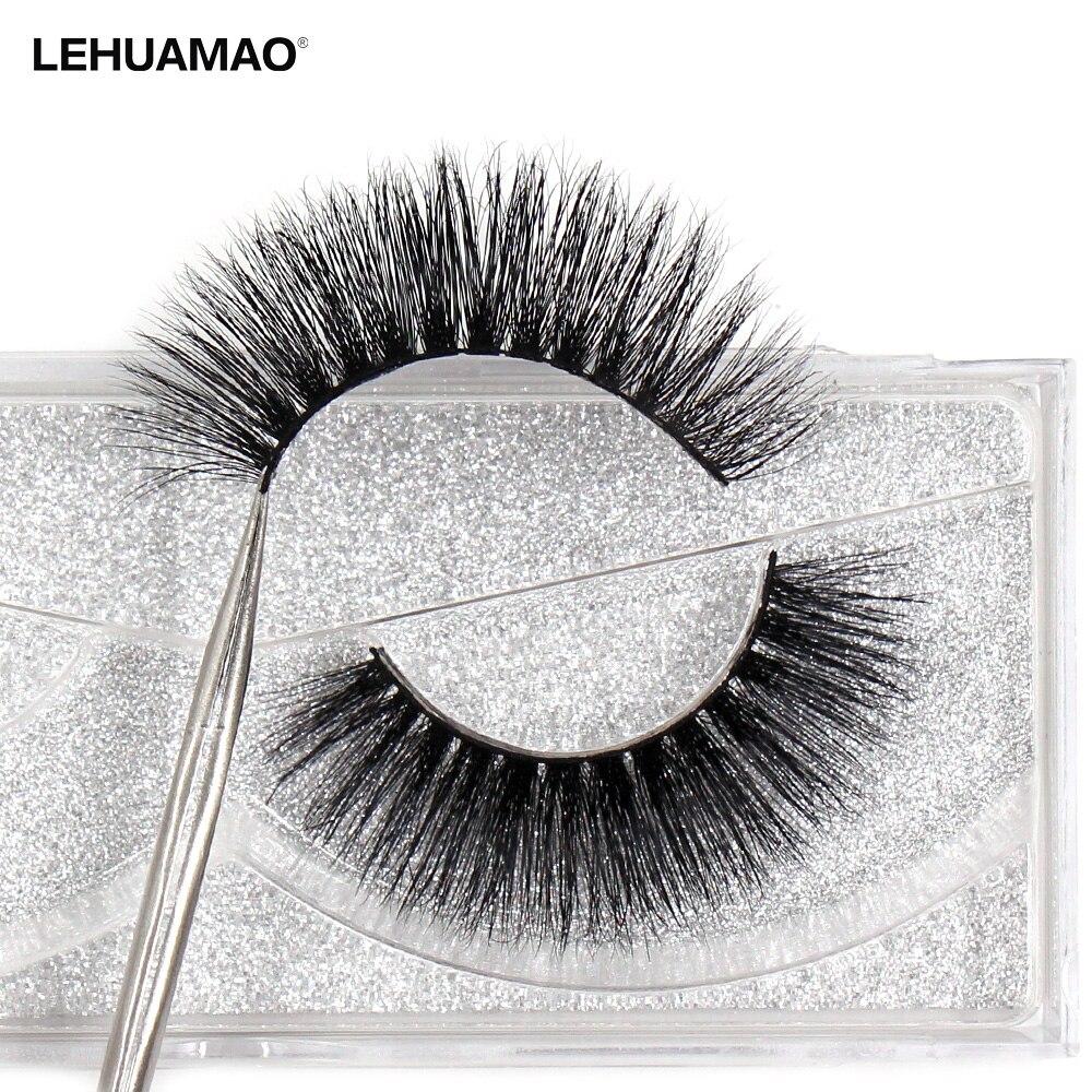 LEHUAMAO  Mink Lashes 3D Mink Eyelashes 100% Cruelty Free Lashes Handmade Reusable Natural Eyelashes Soft False Lashes Makeu A06